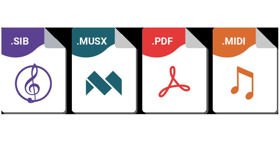 Formats disponibles - Ma partition sur mesure