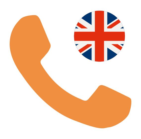 Téléphone britannique - Ma partition sur mesure